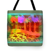 Happy Holidays - Christmas Packages - Holiday And Christmas Card Tote Bag