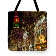 Happy Holidays Downtown Denver Co Tote Bag