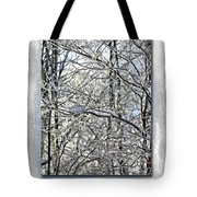 Happy Holidays Greeting - Icicles On Trees Tote Bag