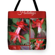 Happy Holidays Natural Christmas Card Or Canvas Tote Bag