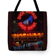 Happy Holidays - Neon Of New York - Shoe Repair - Holiday And Christmas Card Tote Bag