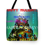 Happy Holidays Word Splash A Tote Bag