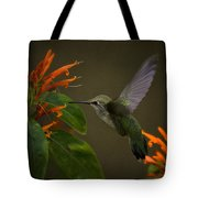 Happy Little Hummingbird  Tote Bag