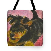 Happy Tote Bag by Jeanne Fischer