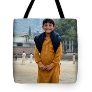 Happy Laughing Pathan Boy In Swat Valley Pakistan Tote Bag