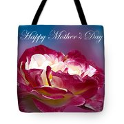 Happy Mother's Day Red Pink White Rose Tote Bag