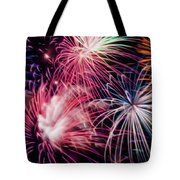 Happy New Year Fireworks Night Scene Tote Bag