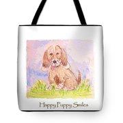 Happy Puppy Smiles Tote Bag