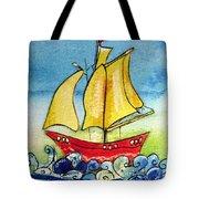 Happy Sailing Ship  Tote Bag