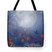 Happy Samhain Moon And Veil  Tote Bag