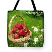 Happy Thanksgiving Card Tote Bag
