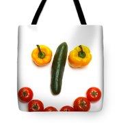 Happy Veggie Face Tote Bag