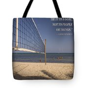 Happy Volleyball Goal Tote Bag
