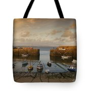 Harbor At Dusk Tote Bag by Pixel Chimp