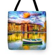 Harbor At Sunset Tote Bag