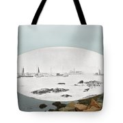 Harbor Entrance At Sakonnet Point In Little Compton Ri Tote Bag