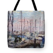 Harbor In Early Morning Tote Bag