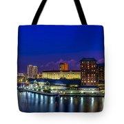 Harbor Island Nightlights Tote Bag by Marvin Spates