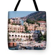 Harbor, Kalkan, Turkey Tote Bag