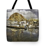 Harbor Reflection Impasto Tote Bag