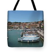 Harbor Scene Cassis  Tote Bag