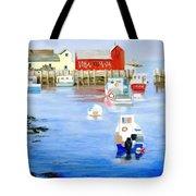 Harbor Scene Tote Bag