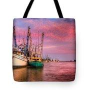 Harbor Sunset Tote Bag by Debra and Dave Vanderlaan
