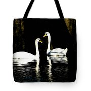 Harbor Swans Tote Bag