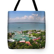 Harbor Town 3 In Hilton Head Tote Bag