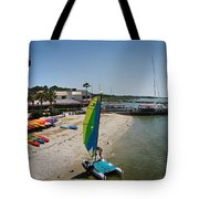 Harbor Town Beach 2 In Hilton Head Tote Bag