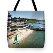 Harbor Town Beach 3 In Hilton Head Tote Bag