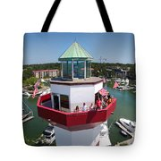 Harbor Town Lighthouse In Hilton Head Tote Bag