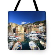 Harbor With Fishing Boats Tote Bag