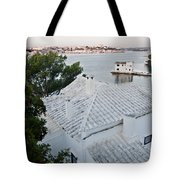 Port Mahon View With A Villa Called Venecia - Harbour Of My Dreams Tote Bag