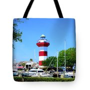 Harbour Town Lighthouse Tote Bag
