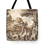 Hare Hunting, Engraved By Wenceslaus Tote Bag