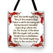 Hark The Herald Angels Sing Tote Bag