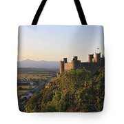 Harlech Castle Wales Tote Bag