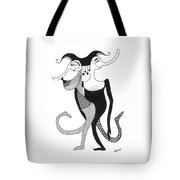 Harlekin Trunks Tote Bag