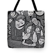 Harlequin And The Masked Moon Tote Bag