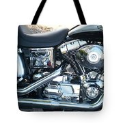 Harley Black And Silver Sideview Tote Bag