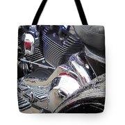 Harley Close-up Blue Lights Tote Bag