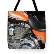 Harley Close-up Orange 1 Tote Bag