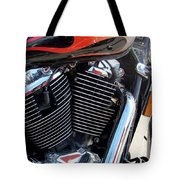 Harley Close-up Red Flame 1 Tote Bag