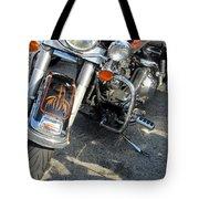 Harley Close-up W Shadow 1 Tote Bag