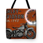 Harley Davidson 1940s Sign Tote Bag