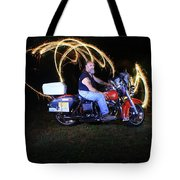 Harley Davidson Light Painting Tote Bag