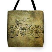 Harley Davidson Motorbike Patent  Tote Bag