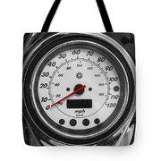 Harley Davidson Motorcycle Speedometer Harley Bike Bw  Tote Bag