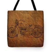 Harley Davidson Patent  Tote Bag